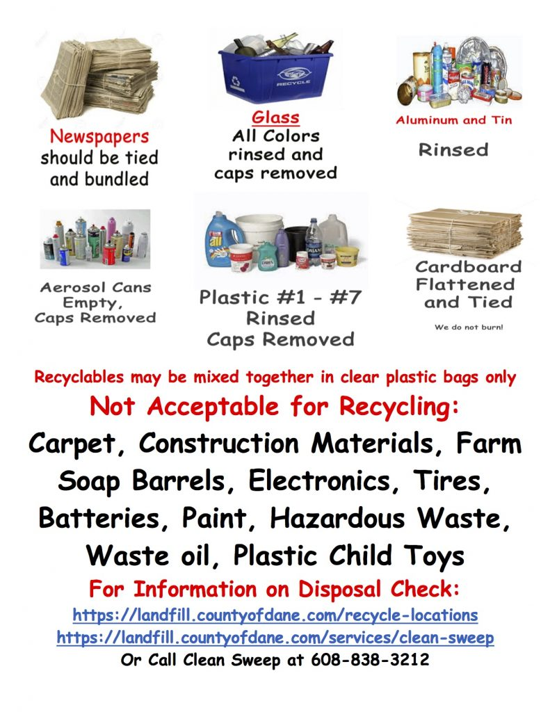 Town of Dane Recycling Guide
